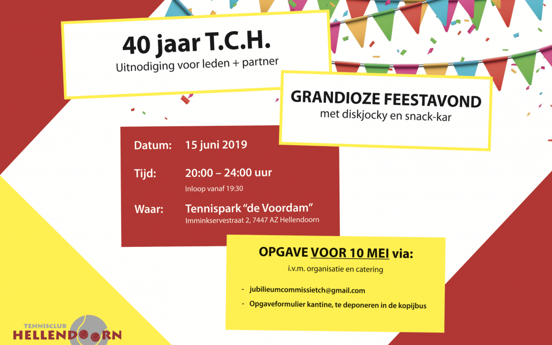 Feestavond TC Hellendoorn 40 jaar
